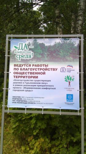 Благоустройство в Гурьяновском лесу