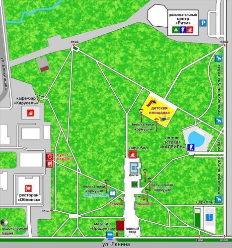 Городской парк. Карта: