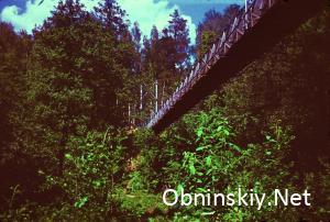 Подвесной мост через Репенку 1971г.