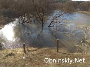 река Протва разлилась