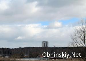 Вид на г. Обнинск с плотины