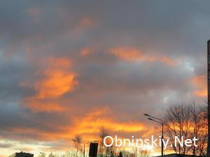 Закат в Обнинске