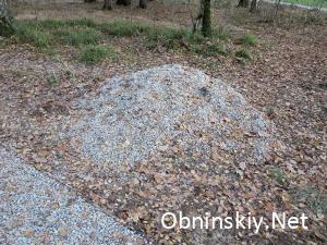 В Гурьяновском лесу, просто осталась лишняя щебенка, зачем её убирать? и так сойдёт...