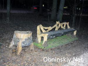 В Гурьяновском лесу очень красивая лавочка