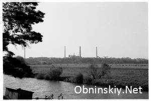 вид на АЭС Обнинск 1971г.