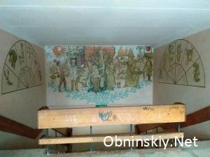 Рисунки на лестнице