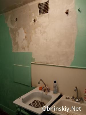 ремонт на кухне, в процессе