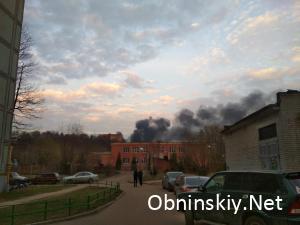 Пожар в Обнинске 11.04.2019