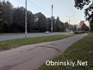 яма на ул. Курчатова Обнинск