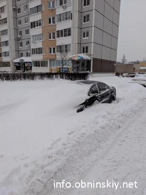 Снегопад в Обнинске
