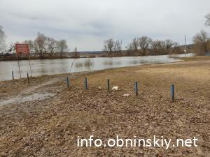 Городской пляж, разлив реки 06.04.2021
