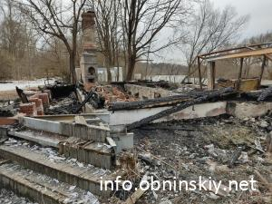 Поплавок после пожара