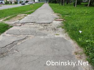 Пешеходная дорога возле хлебозавода по ул. Курчатова