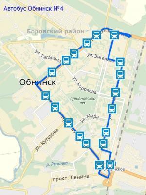 Автобус Обнинск №4