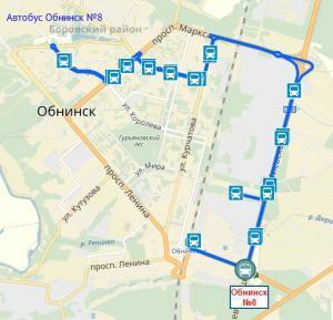 Автобус Обнинск №8