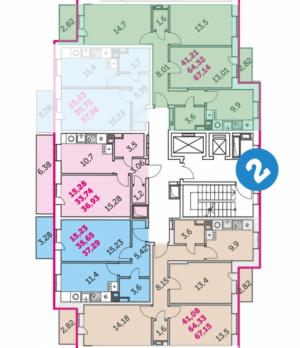 """Жилой комплекс """"Наши люди"""" Планировка квартир"""