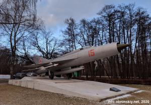 МиГ-21, памятник-самолёт в Обнинске